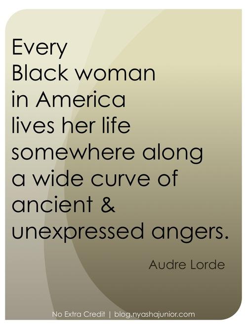 Audre Lorde, on black womanhood.